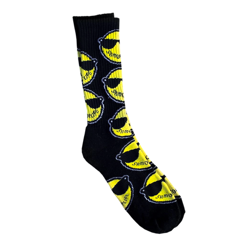 LOGO SOCKS BLACK  ACCESSORIES - SHMOPLIFE GEAR