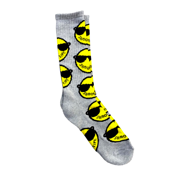 LOGO SOCK GREY  ACCESSORIES - SHMOPLIFE GEAR