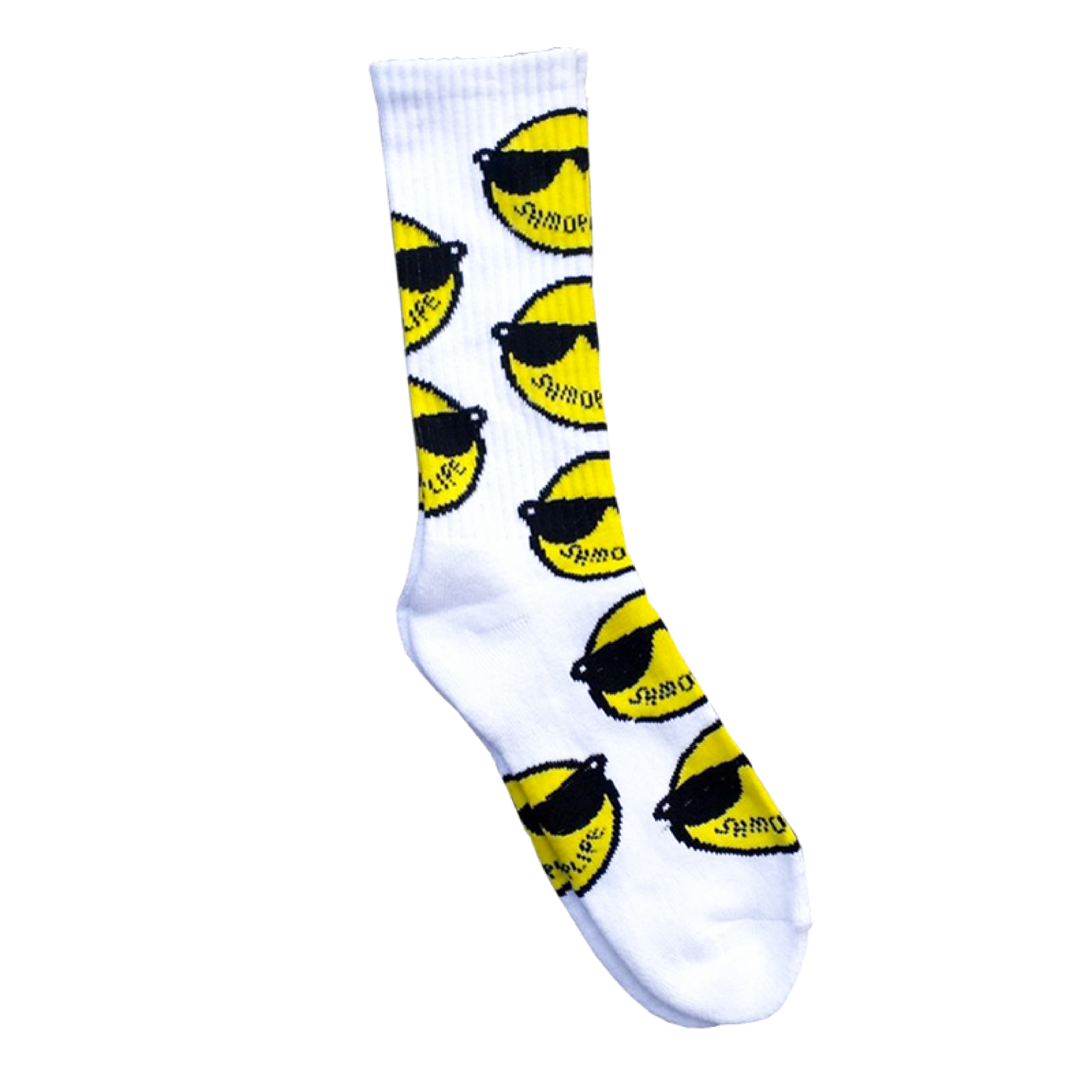 LOGO SOCKs WHITE  ACCESSORIES - SHMOPLIFE GEAR