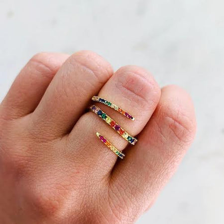 Rainbow Twist Ring