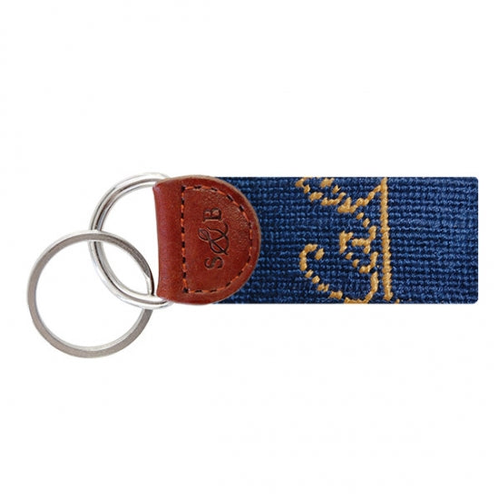 Cal Berkeley Needlepoint Key Fob - lo + jo, LLC