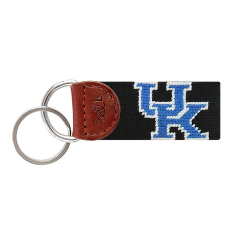 Black University of Kentucky Needlepoint Key Fob - lo + jo, LLC