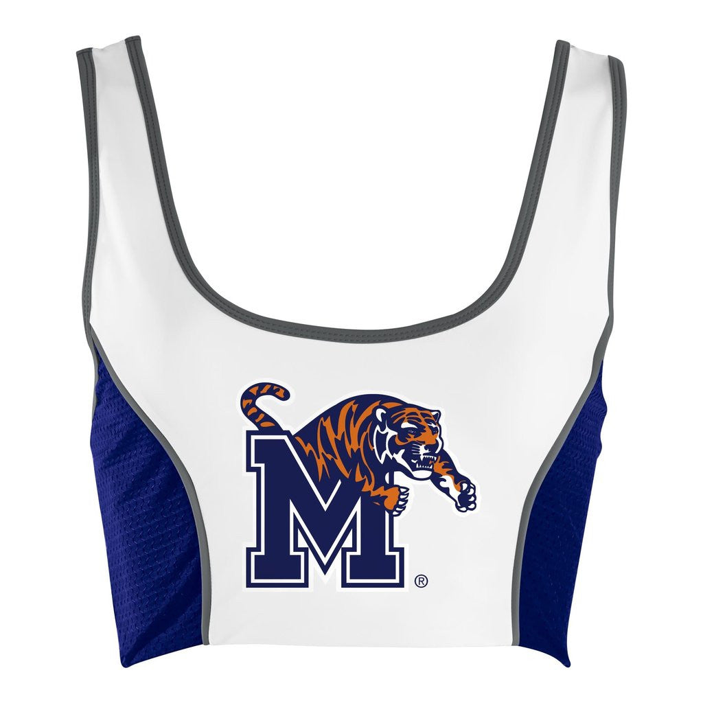 University of Memphis Sporty Cropped Tank