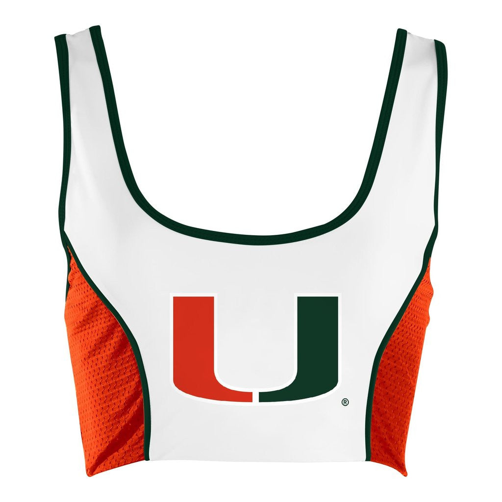 University of Miami Sporty Cropped Tank - lo + jo, LLC