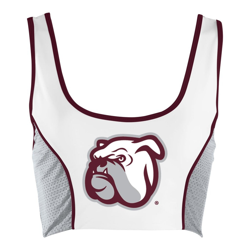Mississippi State Sporty Cropped Tank - lo + jo, LLC