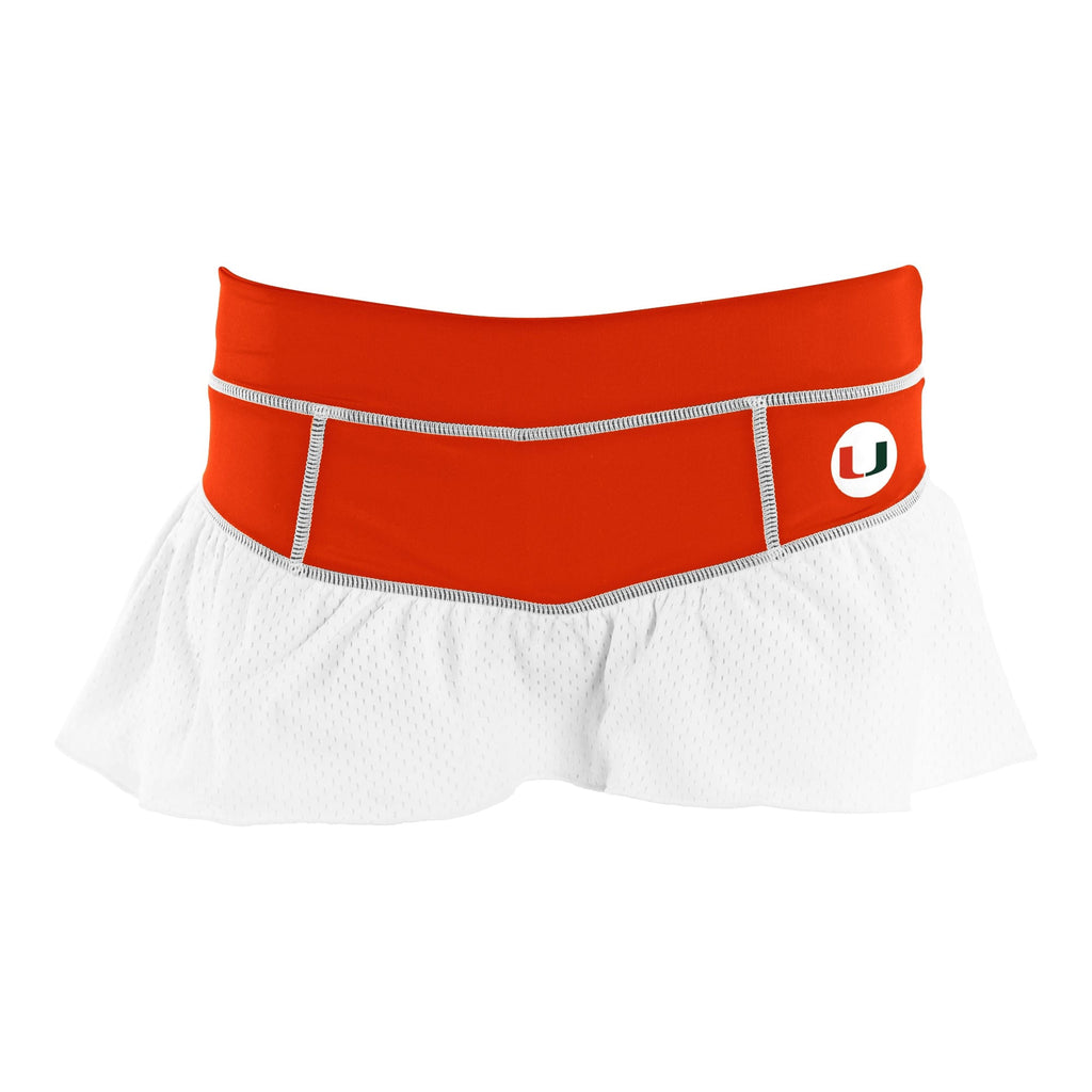 University of Miami Ruffle Skort - lo + jo, LLC