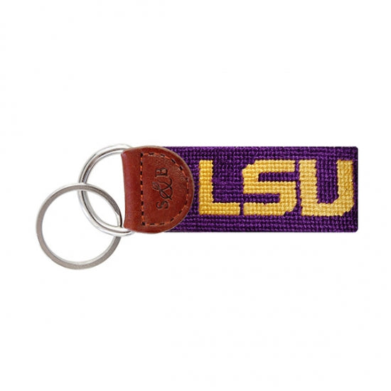 Louisiana State LSU Needlepoint Key Fob