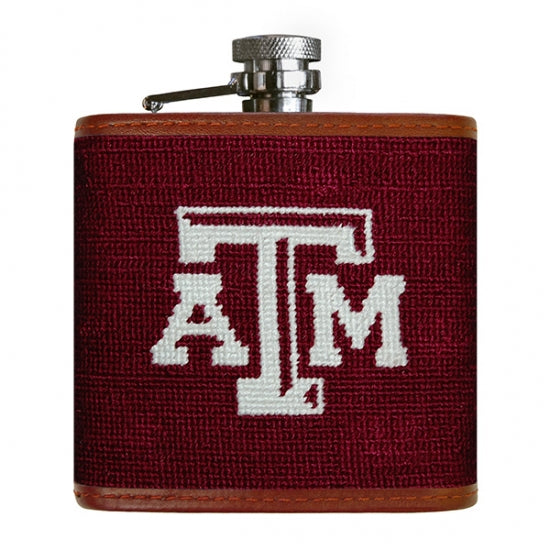 Texas A&M Needlepoint Flask