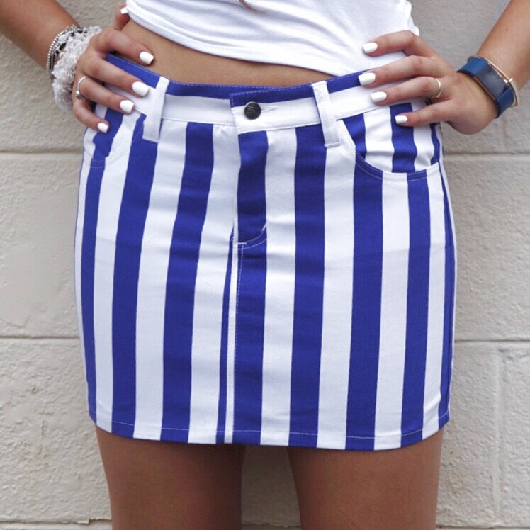 Blue & White Game Day Skirt - lo + jo, LLC
