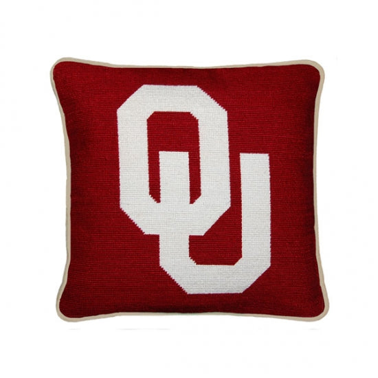 University of Oklahoma Needlepoint Pillow
