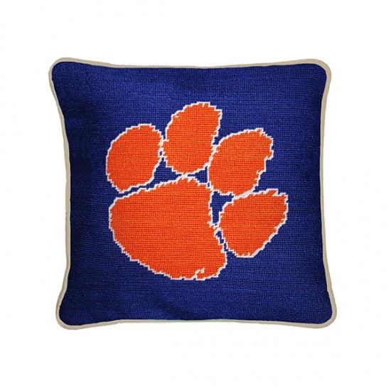 Clemson Needlepoint Pillow - lo + jo, LLC