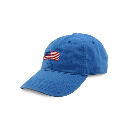 Royal Blue American Flag Needlepoint Hat