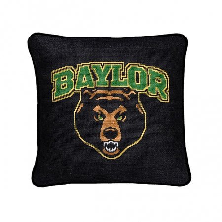 Baylor Needlepoint Pillow - lo + jo, LLC
