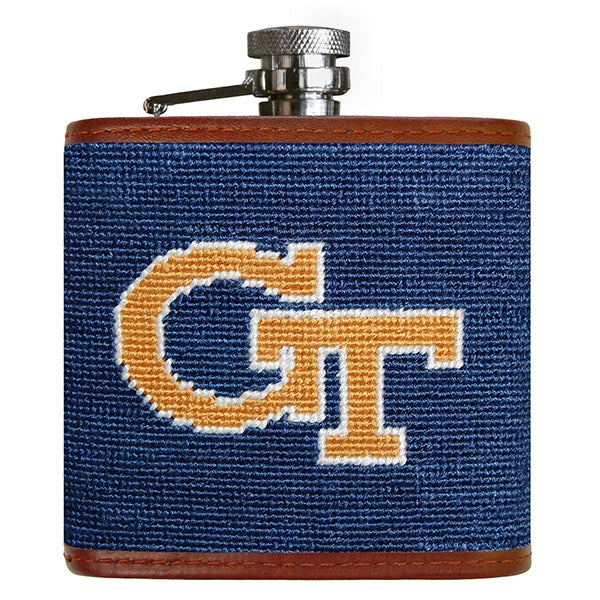 Georgia Tech Needlepoint Flask - lo + jo, LLC