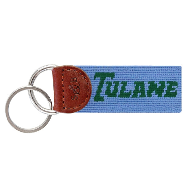 Tulane Needlepoint Key Fob