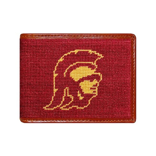 University of Southern California Needlepoint Bi-Fold Wallet