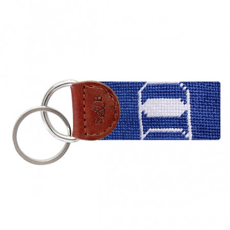 Duke Needlepoint Key Fob - lo + jo, LLC