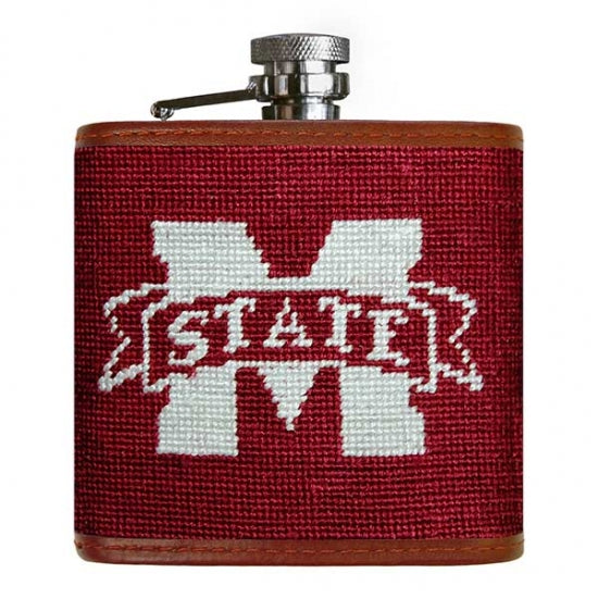 Mississippi State Needlepoint Flask