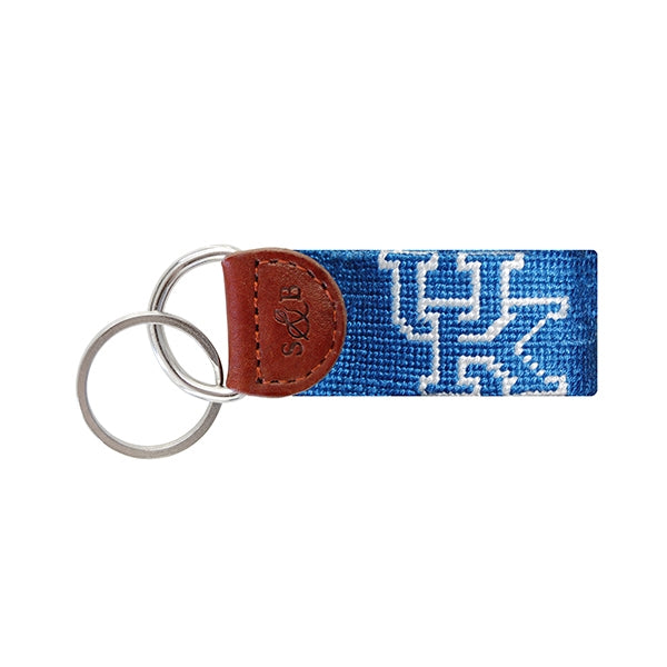 Blue University of Kentucky Needlepoint Key Fob - lo + jo, LLC