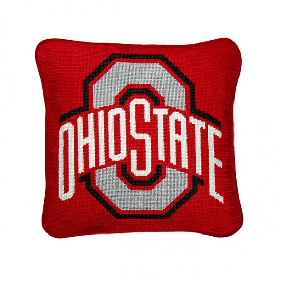 Ohio State Needlepoint Pillow