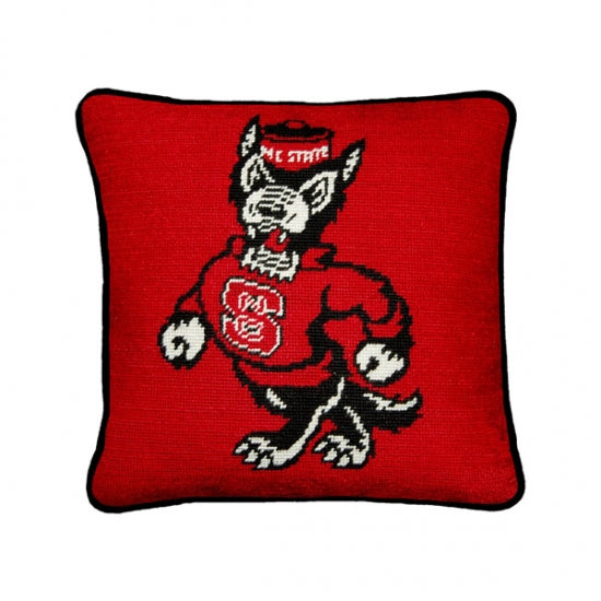 North Carolina State Needlepoint Pillow
