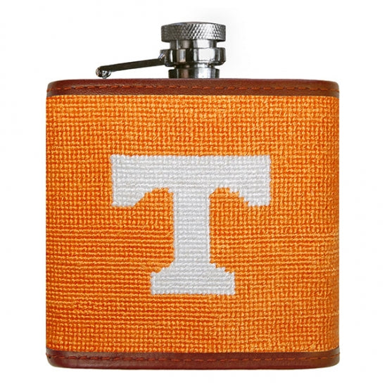 University of Tennessee Needlepoint Flask