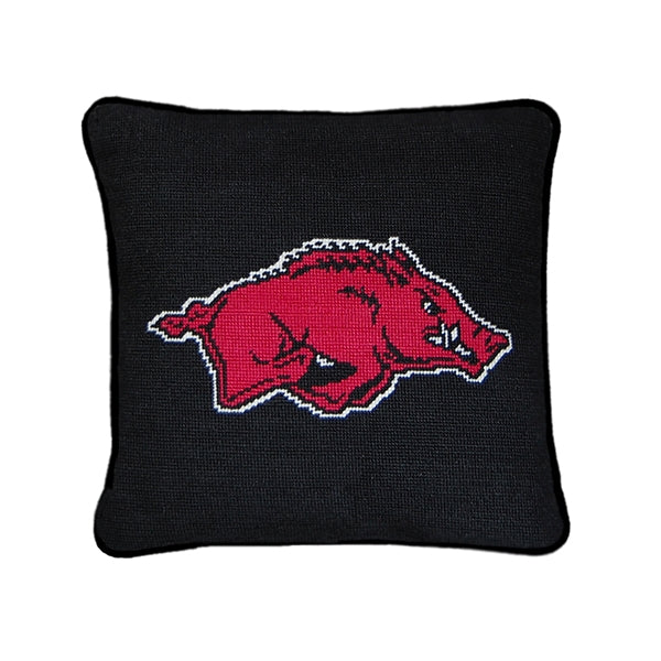 University of Arkansas Needlepoint Pillow