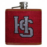 Hampden-Sydney Needlepoint Flask