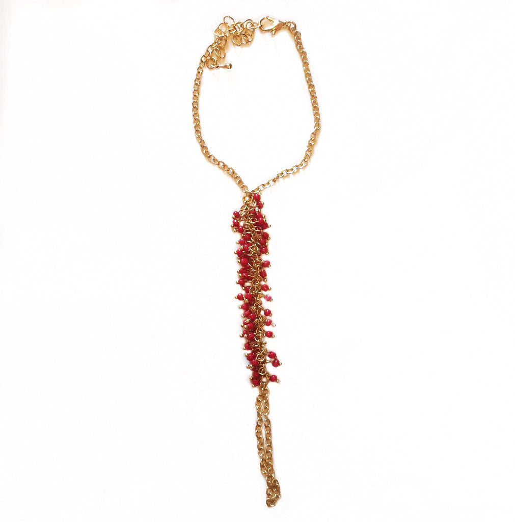 Beaded Hand Chain - lo + jo, LLC