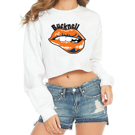 Bucknell Lips Cropped Crewneck