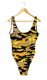 Black & Gold Camo One-Piece - lo + jo, LLC