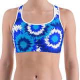 Blue Tie Dye Sports Bra - lo + jo, LLC