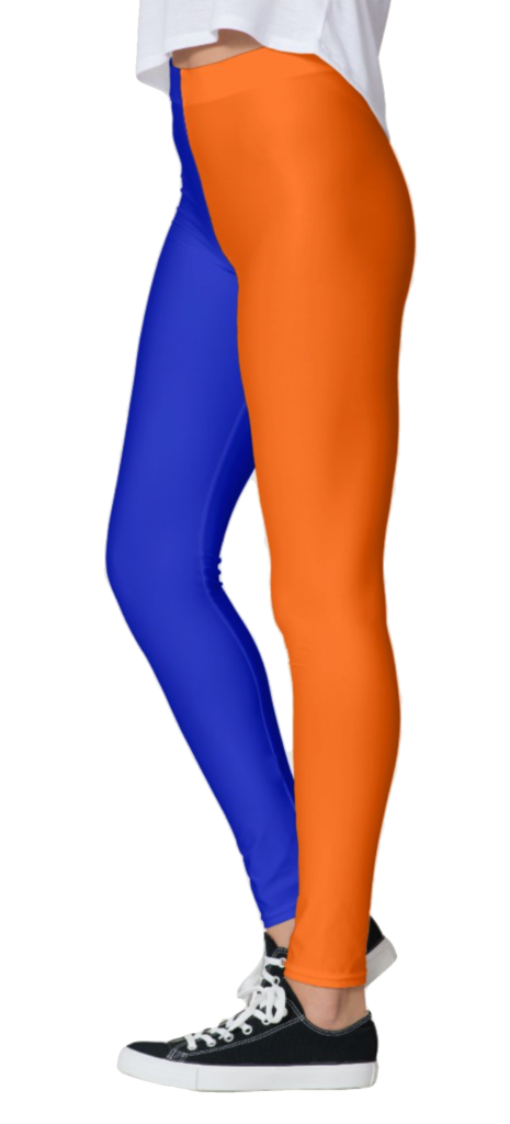 Orange & Blue Leggings