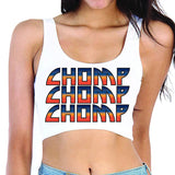 Gradient Chomp Crop Top