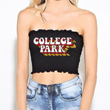 Retro College Park Smocked Tube Top