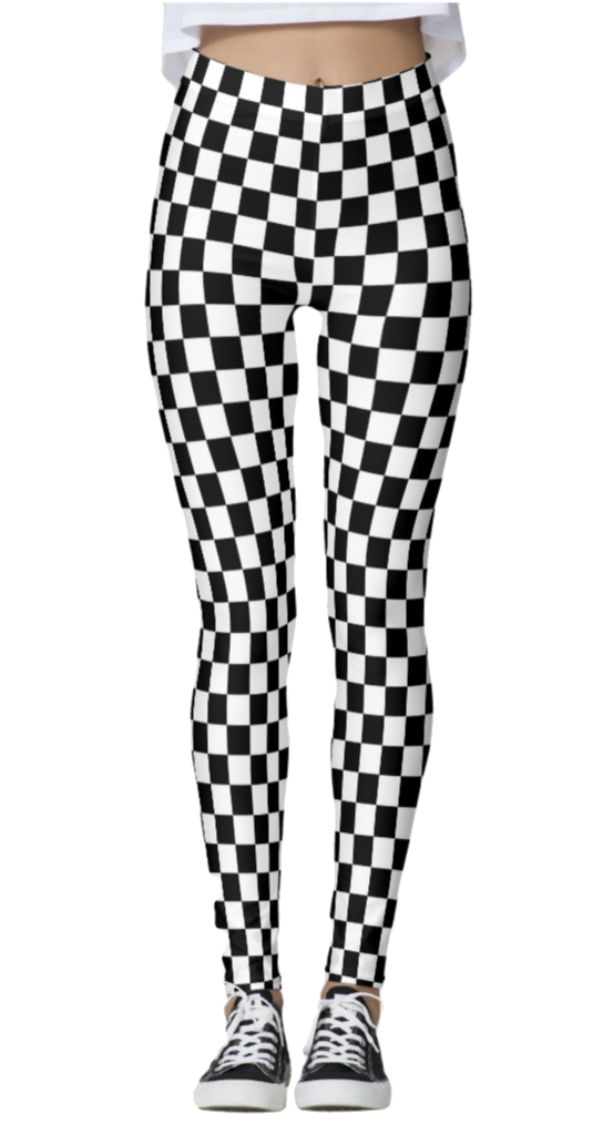 Checkered Leggings - lo + jo, LLC