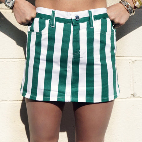 Green & White Star Leggings