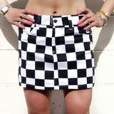 Checkered Game Day Skirt - lo + jo, LLC