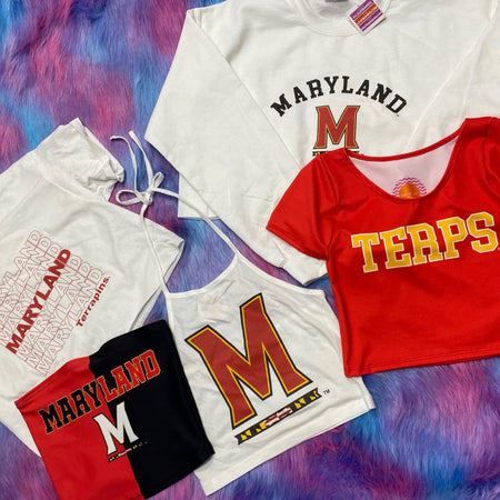 Maryland Terps Repeat Cropped Tee