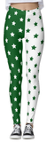 Green & White Split Star Leggings - lo + jo, LLC