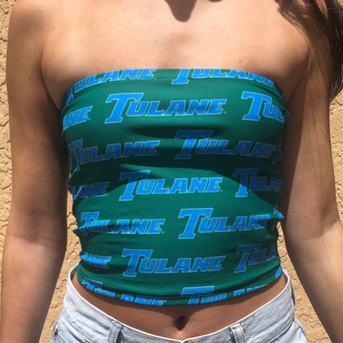 Tulane All Over Tube Top