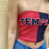 Temple Owls Two Tone Tube Top