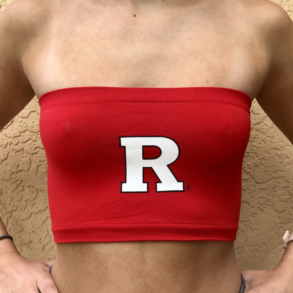 Rutgers Red Bandeau Top