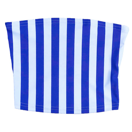 Blue & White Striped Tube Top