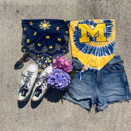 University of Michigan Bandana Top