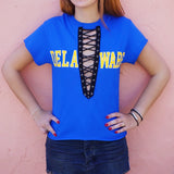 Delaware Lace Up Tee - lo + jo, LLC