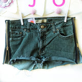 Zipper Denim Shorts - lo + jo, LLC