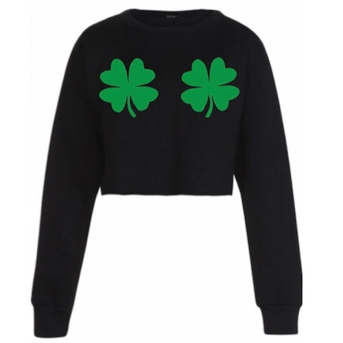 Shake Your Shamrocks Black Crewneck
