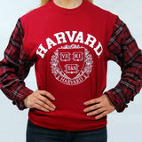 Harvard University Flannel Tee - lo + jo, LLC