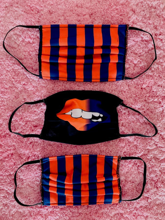 Blue and Orange Ombre Lips Mask